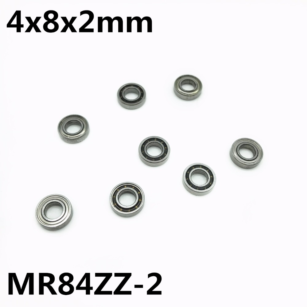 50Pcs MR84ZZ-2 4x8x2 Mm Deep Groove Ball Bearing Miniature Bearing High Qualit