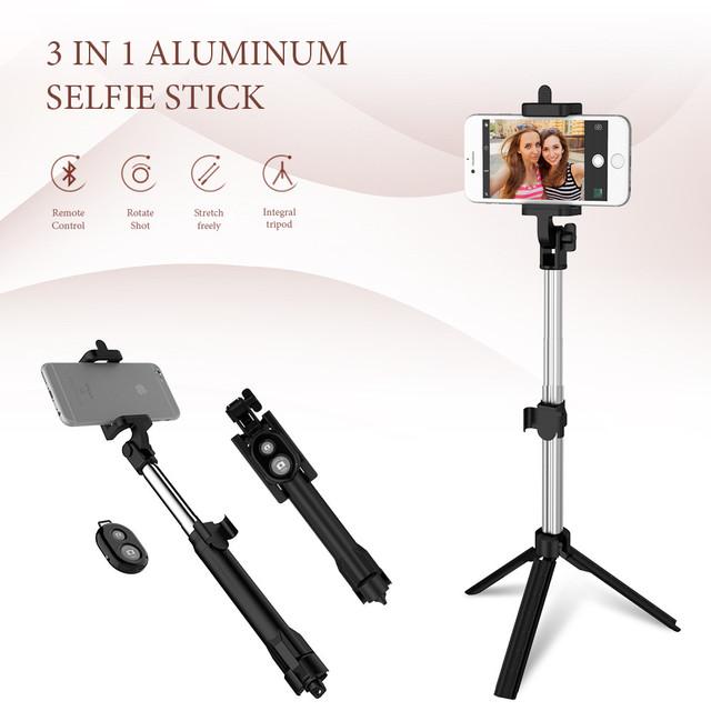 Bluetooth Mini Selfie Stick Tripod