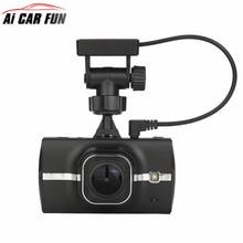 3 дюймов мобильного телефона Экран DVR Двойной объектив 1296 P dashcam камеры Поддержка спереди расстояние автомобиль предупреждение ADAS с GPS трек воспроизведение