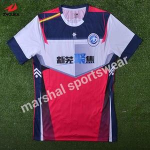 c5a60cb69b4 sublimation custom soccer team jerseys O-neck soccer jersey OEM