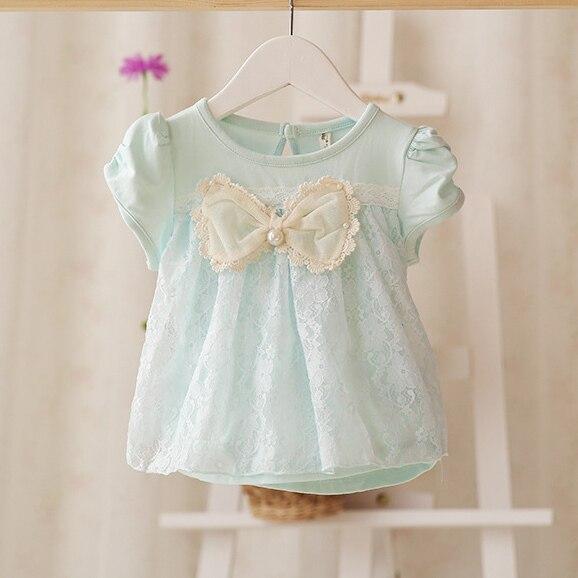 Новый 2017 лето новый стиль детские новорожденных девочек с короткими рукавами Футболки детские Футболки мода Футболка топы тис
