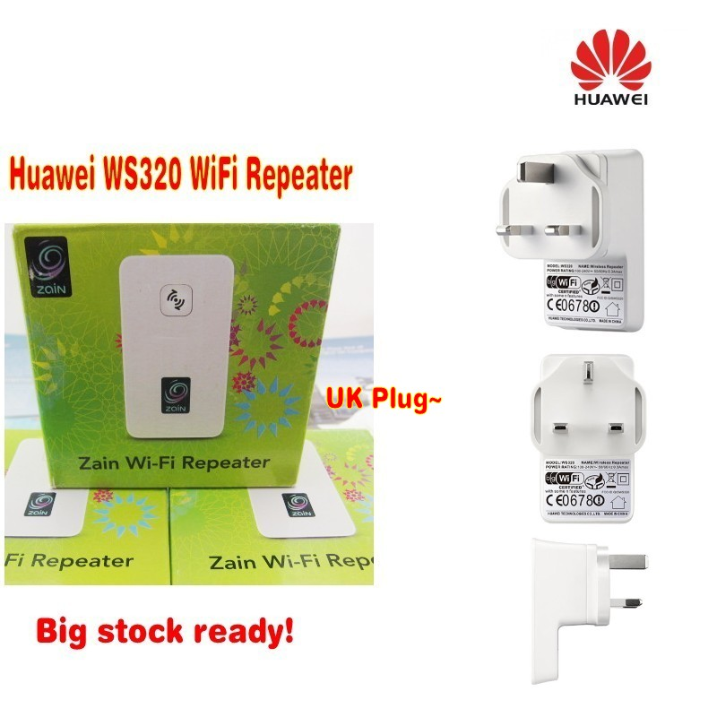 Huawei WS320 WLAN Repeater WiFi Range Extender(UK plug)