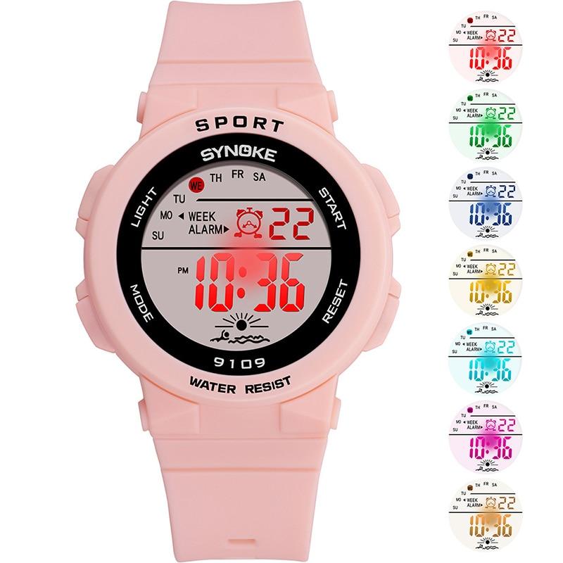Men Women Unisex Watch Electronic Sports Watch Waterproof Digital Watch With Colorful LED Backlight  LL@17