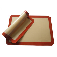 Hot Non-Stick Silicone Baking Mat Pad, 42*29.5cm Sheet  Glass Fiber Rolling Dough Mat, Large Size for Cake Cookie Macaron