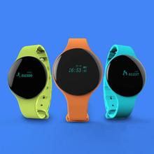 new fashion women men bracelet sports pedometer smart watch wristband wrist clocks hour for Android IOS silicone strap gift H3