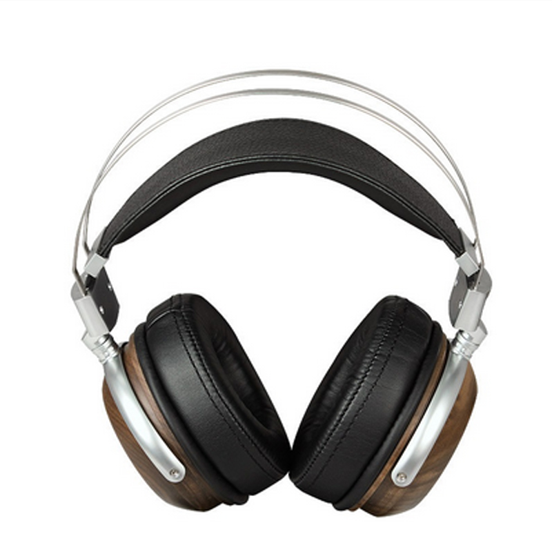 Headband Wooden Metal Headphone Clear Sound Headset With Beryllium Alloy 50MM Driver And protein Leather