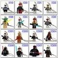 Star War Handmade Princess Leia Key Chain Yoda bb8 DIY Customize Keychains Building Blocks Toys