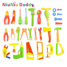 34pcs/set Baby Early Learning&Education Children toys Repair tools Toy Pretend Play House Toys