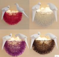 Creative personality bird's nest LED wall lamp small nest dining room bedroom study room children's room art lighting shop m