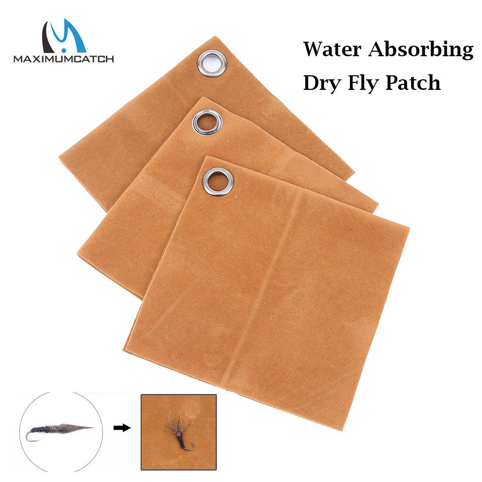 Maximumcatch 3pcs/lot Cloth Water Absorbing Dry Fly Patch fly fishing water absorbing oil absorbing cleaning cloth