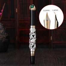 Buy Jinhao Dragon Fountain Pen High Quality Pluma Stylo Plume Caneta Tinteiro Pluma FuenteTitanium Dolma Kalem Tips Collection Gifts directly from merchant!