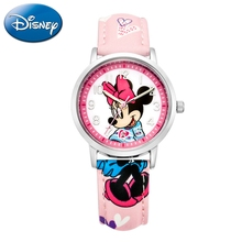Luxury Disney Cuties Minnie Mouse Pretty Girl Sweet Dream Student Love Beautiful PU Band Watch Child Best Gift Good Quality NEW