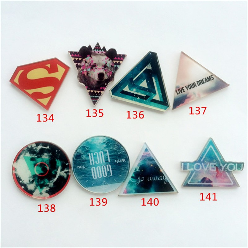 New Fashion Cute Harajuku  Acrylic costumes Badge Pins Accessories Cartoon Figure superman XZ48