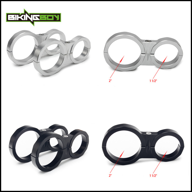 BIKINGBOY Shock Reservoir Mounting Clamps 1 5