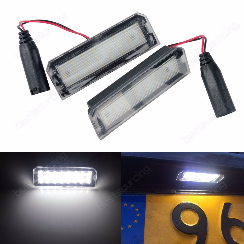 Pair Super White LED License Plate Lamp Light for Land Range Rover Sport