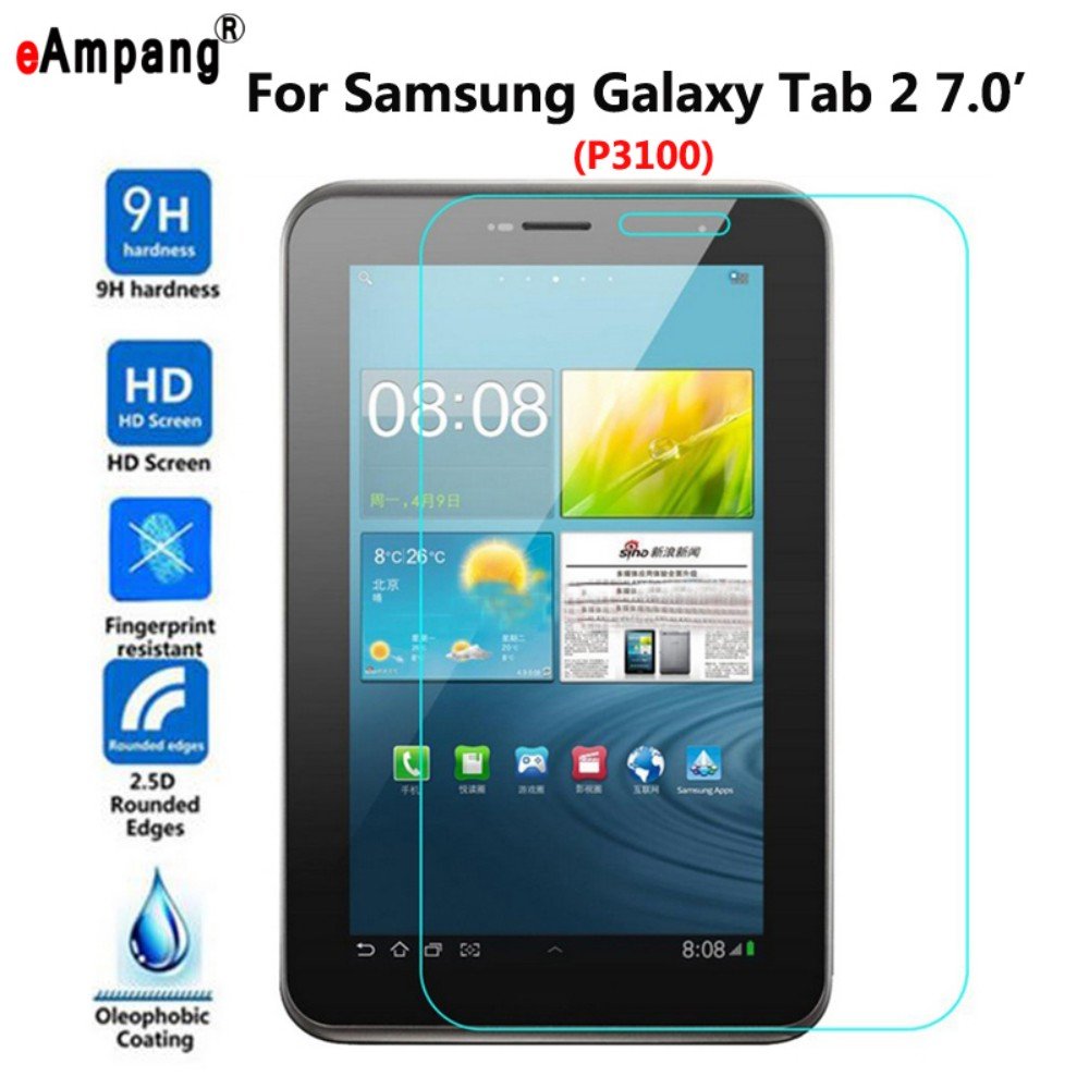 цена на Tempered Glass for Samsung Galaxy Tab2 Tab 2 7.0 P3100 Screen Protective Film Tablet Screen Protector for Samsung Tab 2 7.0