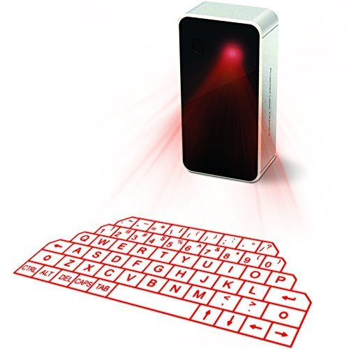 Virtual Laser Keyboard and mouse Wireless Bluetooth Keyboards Mouse Set for iPad iPhone with Mini Speaker Voice Broadcast-White buy monitor keyboard and mouse