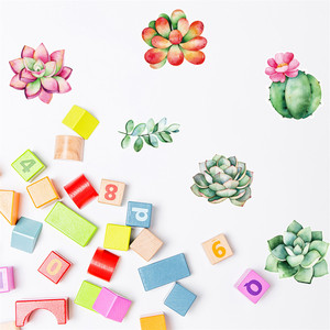 Image 3 - נייד Creative קיר מדבקות חמוד צמח מודבק עם דקורטיבי קיר חלון קישוט vinilos decorativos para פרדס