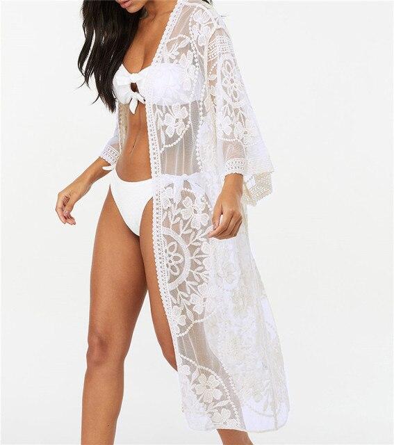 530a5cc56078 Mejor precio 2019 encaje Playa Pareo ropa de traje baño cubrir ...