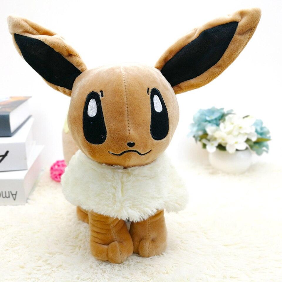30 cm Eevee Peluche Kawaii Anime Peluche peluches dessin animé mignon Animal assis cadeaux enfants Peluche Pokemon poupée Juguete