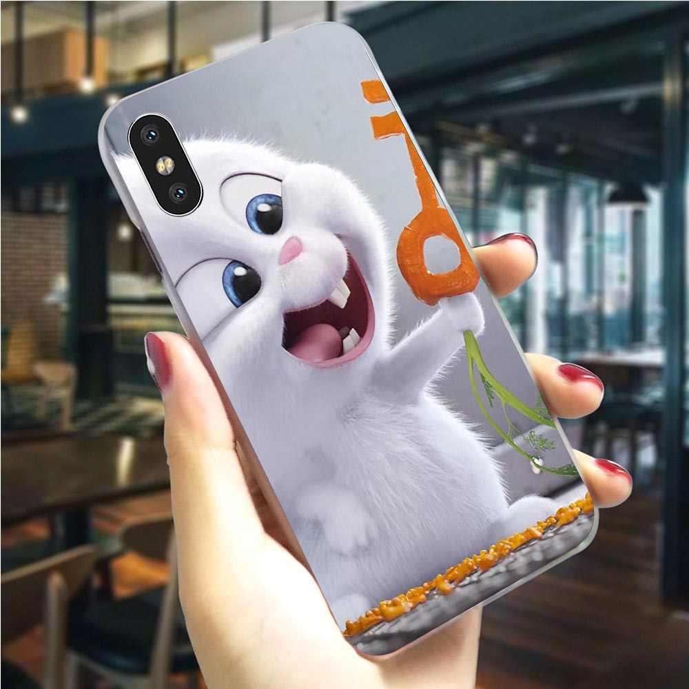 Kelinci Putih Anak Anjing Ponsel Cover UNTUK iPhone 5 5S 6 6 S/6 6S PLUS 7 8/7 8 Plus X XS XR X Max Hard Shell Hybrid