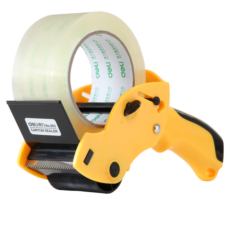 цены Free shipping deli 803 handle cutter tape machine packing machine sealing device adhesive tape sealing machine tape dispenser