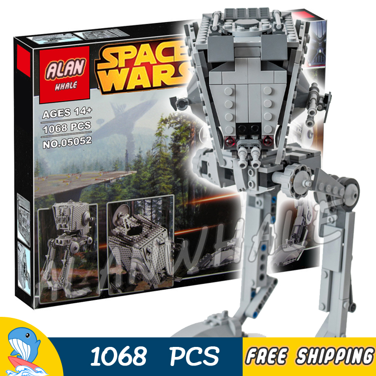 1068pcs Space Wars Universe New 05052 Ultimate Collection AT-ST DIY Model Building Blocks Teenagers Toys Compatible with Lego toys in space