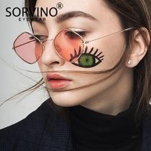e59339aac4cf1 SORVINO Óculos De Sol Dos Homens Das Mulheres Designer De Marca Do Vintage  Pequeno Diamante Azul Quadrado Minúsculo SP121 Losang.