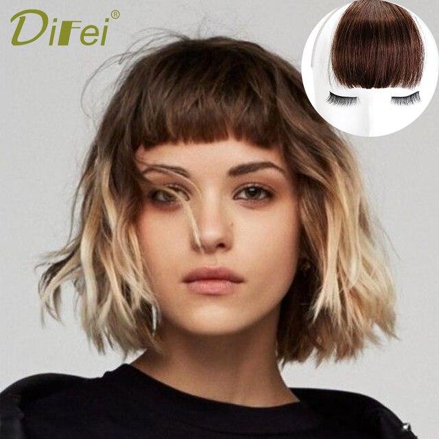 Aliexpress Buy Difei Clip In Human Hair Extensions Wig Bangs