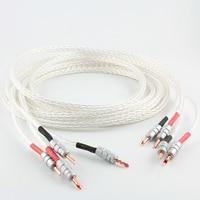 U.S Jinbao Kimber 8AG 8N single crystal silver signal line HIFI amplifier speaker cable Y Banana plug audio line