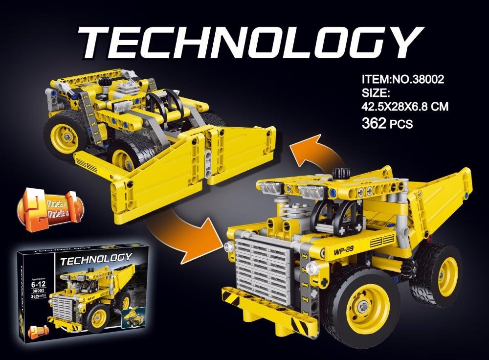 Classic technology technics Engineering vehicle 2in1 mining truck building block Bulldozer model bricks 42035 city toys for boys joseph physics for engineering technology 2ed