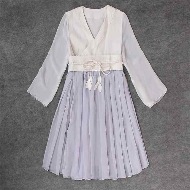 9797ba3988d ... Daily Wear Chinese YUSHENGYAN Han Dynasty Tradition Style Dress Fairy  Kei Mori Girl Vintage High Waist ...