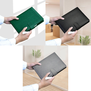 Image 2 - Office Business Folder Notebook Journal Green Loose leaf Binder Agenda 2021 Notebook Planner A5 A6 Hardcover Diary Notepad