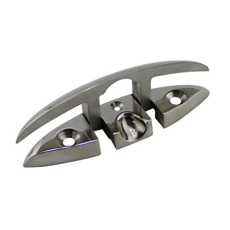 Stainless Steel 316 Marine Hardware Folding Cleat Silver Flip Up Cleat Base for Marine Boat Yacht Boat Accessories in Marine Hardware from Automobiles Motorcycles