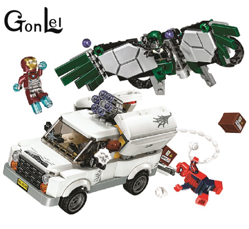 10746 SpiderMan Super Heroes Homecoming Building Blocks DIY Educational Bricks toys gift Compatible With Legoingly 76083
