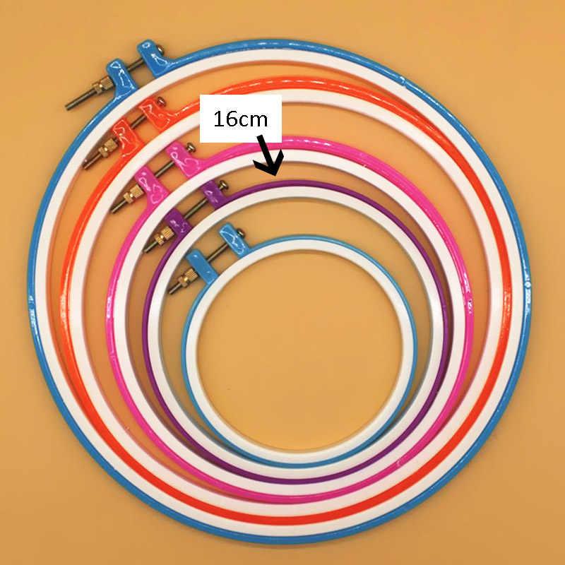 Oneroom 6-я круглая петля вышивка крестиком ручная работа инструмент для вышивки пяльцы для вышивания деревянная пластиковая рамка Бытовая случайный цвет кольцо круг