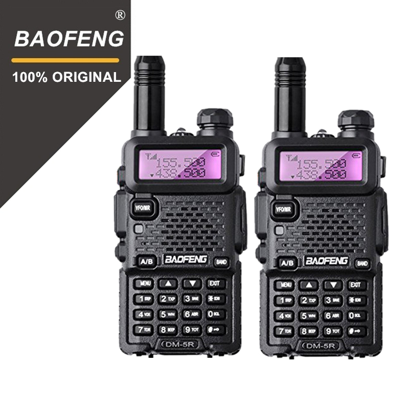 2Pcs/lot Baofeng DM 5R Digital DMR Walkie Talkie VHF UHF 136 174mhz 400 480mhz Dual Band Ham Radio Amateur Radio Transceiver-in Walkie Talkie from Cellphones & Telecommunications