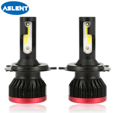 Aslent 2Pcs mini H4 H7 LED H11 H8 H1 HB4 H3 HB3 9005 9006 LED Headlight 20000lm 6500K Bulbs for Car Lamp Auto Fog Lights White 2pcs h1 h3 h4 h7 h8 h11 h10 5202 9005 hb3 9006 hb4 led bulbs auto fog lights csp chip daytime running driving light 6500k white