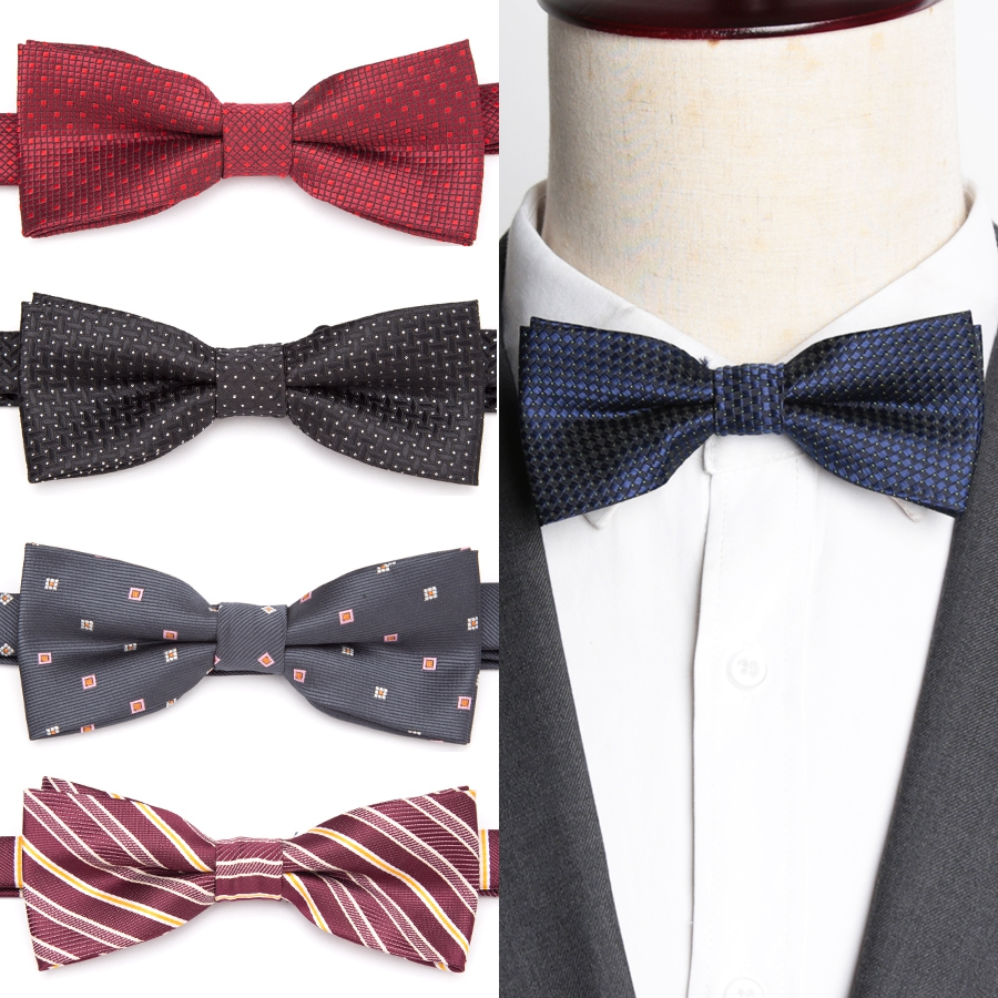 IHGSNMB Bowtie Quality Men Bow Ties Striped Fashion Necktie Women Adjustable Butterfly Double Deck Neckwear Bowtie Dress Tie