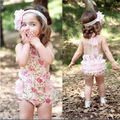 2017 Newborn Bodysuit Toddler Kids Baby Girl Cute Floral Outfits Jumpsuit Girls Sleeveless Bodysuits Party Playsuit  Clothes