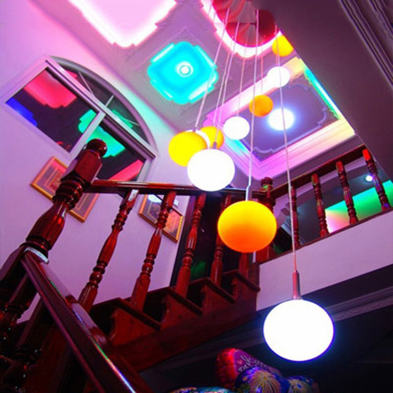 E27 E14 B22 LED Lamp with IR Remote controller changeable RGB Color AC 110V 220V 9W energy saving 16 Colors Led Light bulb DA