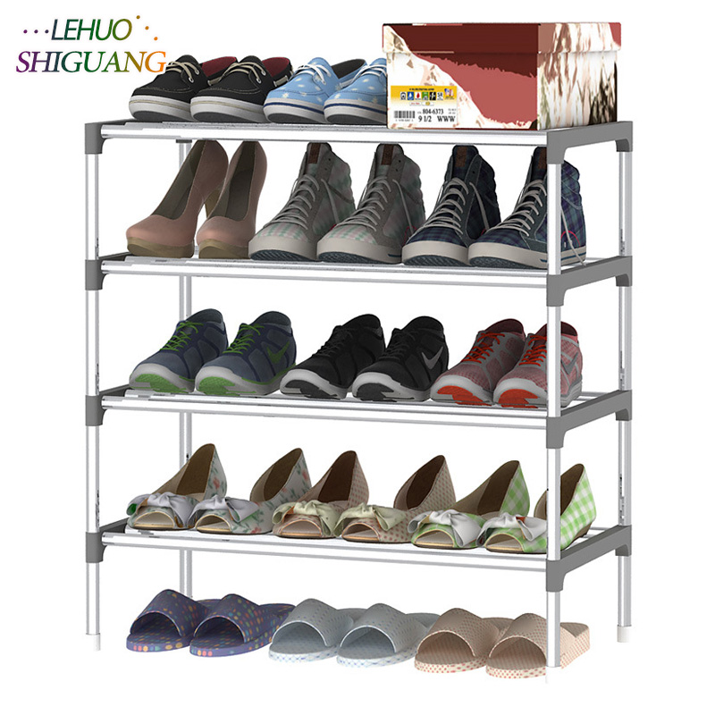 5 Layers Shoe Rack Galvanized steel pipe shoe cabinet shoe organizer removable shoe storage for home furniture Keep Room Neat