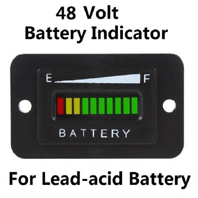 48 volt golf cart club car ezgo battery charge status. Black Bedroom Furniture Sets. Home Design Ideas