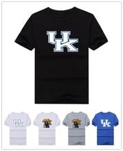 Heißer 2016 2017 Kentucky Wildcats logo t-shirt männer T-shirt Gitarre Kühlen T-shirt Gedruckt Beiläufige T-stücke 100% baumwolle