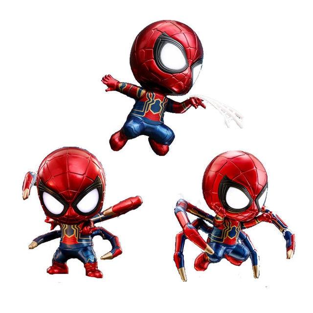איש עכביש ברזל נוקמי מלחמת אינסוף Cosbaby ובל-head דמות צעצוע לקישוט רכב