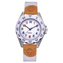 2018 Cute Boys Girls Quartz Watch Kids Children's Fabric Strap Student Time Clock Wristwatch Gifts Colorful Number Dial Clock(China)