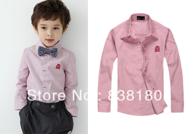 autumn spring Children boys kids gentleman shirt blouse fashion ...