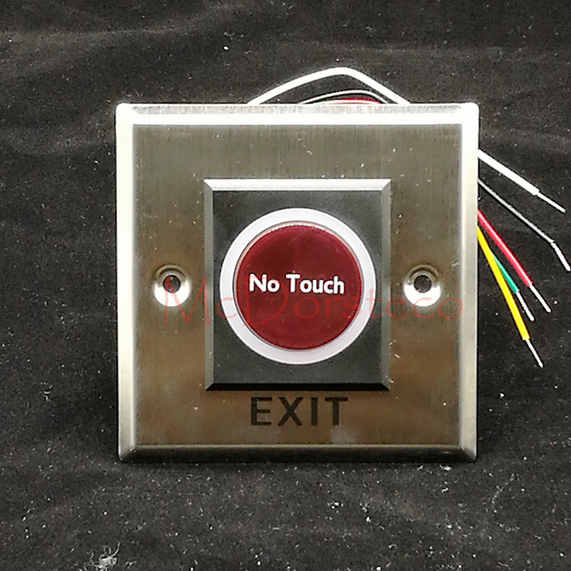 Infrared No Touch Contactless Door Release Exit Button Sensor Switch with LED Indication For Access Control System thyssen parts leveling sensor yg 39g1k door zone switch leveling photoelectric sensors