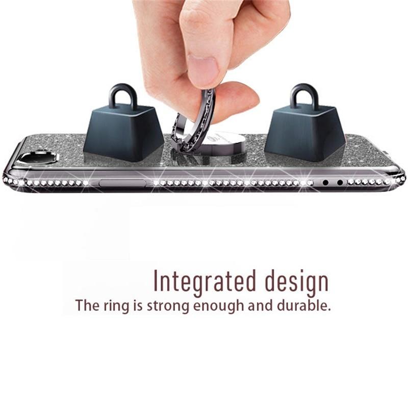 10pcs 360 Degree Matel Diamond Ring Bling Kickstand Finger Ring Magnetic Adsorption Car Holder Ring for iphone Xiaomi Hawei