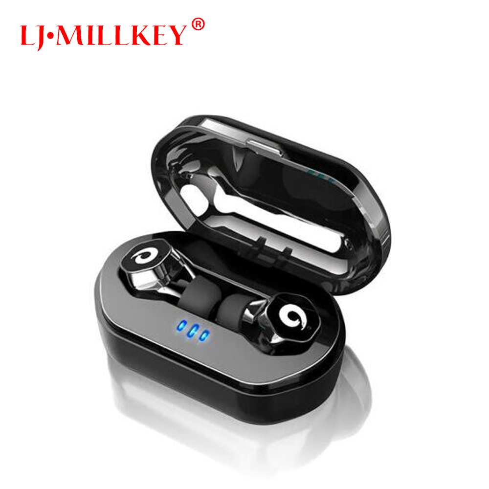 Bluetooth V5.0 Wireless Headset with Charging Box Mini TWS Touch Control Bluetooth Earphones Earbuds for iPhone Samsung YZ186